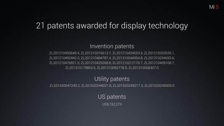 patenty xiaomi